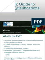 A Quick Guide to PMI Qualifications