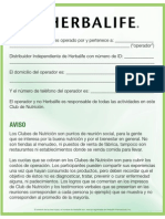 NC Disclaimer-Aviso Del Club
