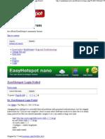 EasyHotspot Forum • View topic - EasyHotspot Login Failed