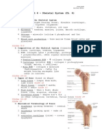 Skeletal System-Lecture Notes