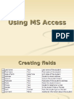 4 Using MS Access
