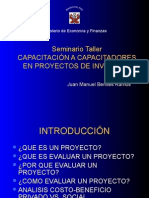 CapacitaciÓn a Capacitadores en Proyectos de InversiÓn