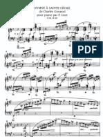 Liszt-Gounod - Hymne a Sainte Cecile