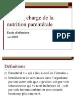 Prise en charge de la nutrition parentérale
