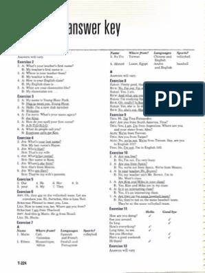 Workbook Answers Unit 1