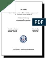 E Wallet Report