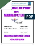 Vardhman Polytex Limited Bathinda by Hardeep for Mba
