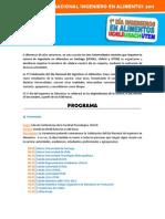 Celebración Día Ingeniero en Alimentos 2011 - Programa y Bases de las Competencias