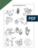 Español - Dibujos con E (lainitas)