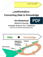 Bioinformatics-From Data to Knowledge