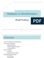 Biological Sequence Databases 2