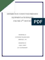 Distribution Conductor Stringing