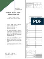 AL Chemistry 2001 Paper 1+2