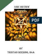 Music Review Anthrax - Worship Music