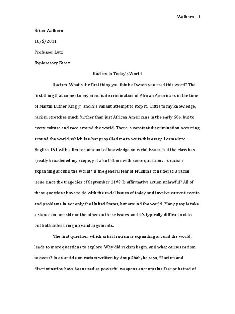 Racial Profiling Essay - hepatitze