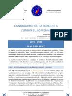 Candidature de la Turquie à l'UE - 1999-2009 - Bilan d'un echec