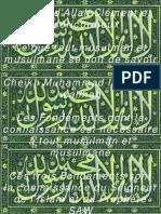 Ce Que Tout Musulman Et Musulmane Se Doit de Savoir