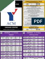 ACM Centro -Horários 2011 - 2º Semestre (por atividade)
