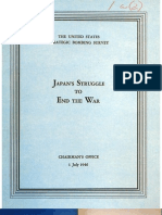 USSBS Report 2, Japan's Struggle to End the War