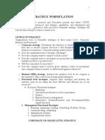 Strategy Formulation Mix