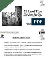 21 Execl Tips