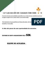 14º ENCONTRO DE CASAIS COM CRISTO