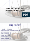 The Payment of Gratuity Act1972