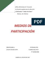 MEDIOS DE PARTICIPACIÓN Y PROTAGONISMO DEL PUEBLO