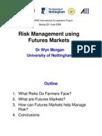 Risk Management Using Future