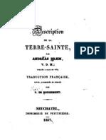 Description de La Terre Sainte