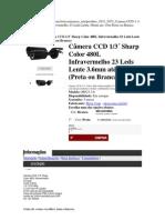Camera Com Lente 3,6mm