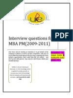 Interview PM 2009 2011 Batch