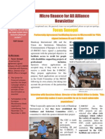 Micro Finance for Alliance Newsletter