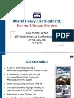 BHEL BoAML Investor Conf-100211