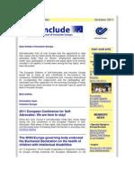 E-Include Newsletter - October 2011