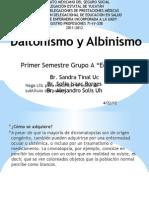 Daltonismo y Albinismo