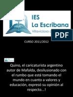 Presentación del curso 2011-2012