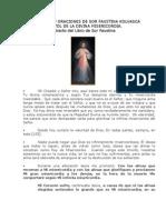 Reflexiones y Oraciones Divina Misericordia