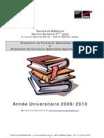 Modalités d'inscription à une AFSA.FSA 2009