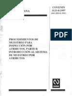 Procedimientos de muestreo para inspección por atributos. Parte 0