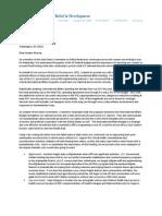 IRD CEO Arthur Keys' Letter to Senator Murray On International Affairs Budget
