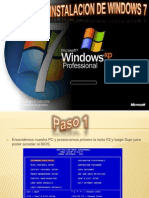 Formateo e Instalacion de Windows 7