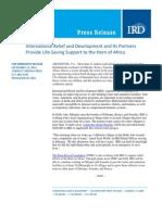 9-12 InternationalReliefandDevelopmentandItsPartners ProvideLife‐SavingSupporttotheHornofAfrica