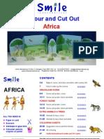 Afryka - Ĺ›rodowisko naturalne i zwierzÄ™ta - wycinanka i malowanka (eng)