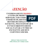 Seminário Evs Campo Grande > Cartaz de ProibiÇÃo de ComÉrcio No Evs