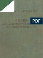 Boxen als Leibesübung, Kampfsport und Selbstverteidigung - Gustav Schäfer