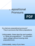 Prepositional Pronouns