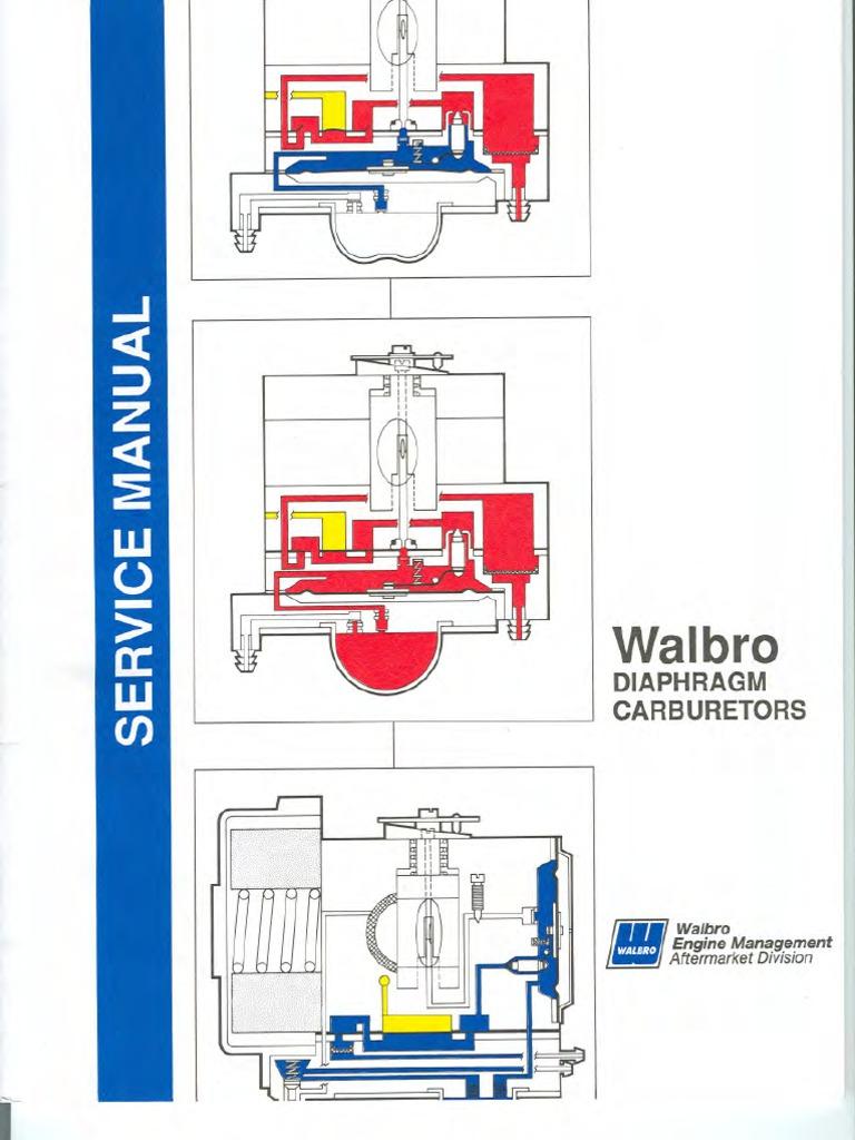 walbro service manual rh scribd com Rebuild Walbro Wyc Walbro Wyc Carburetor Kit 4