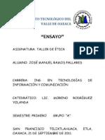 INSTITUTO TECNOLÓGICO DEL VALLE DE OAXACA