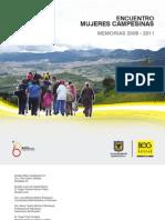 ENCUENTRO MUJERES CAMPESINAS MEMORIAS 2008 - 2011
